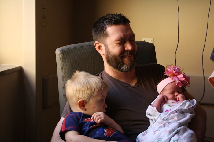 Daddy, Liam, Livy 01