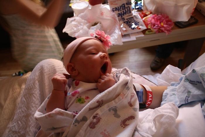 Livy Yawning